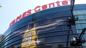 Fans descend on Staples Center to mourn Lakers legend Kobe Bryant