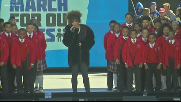Andra Day and Baltimore Children's Choir open up March For Our Lives Rally