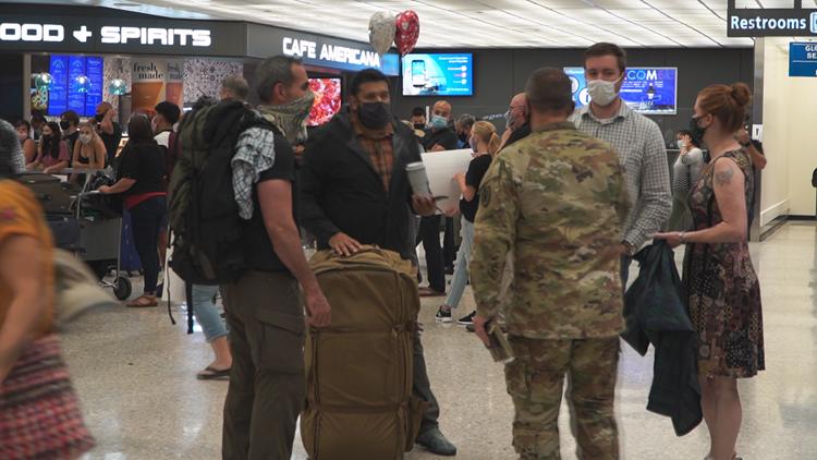 Families fleeing Afghanistan on U.S. commercial flights
