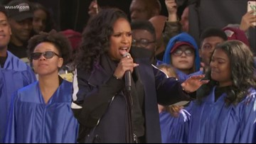 D.C. choir sings with Jennifer Hudson, 'The Times They Are A Changin' at March For Our Lives Rally
