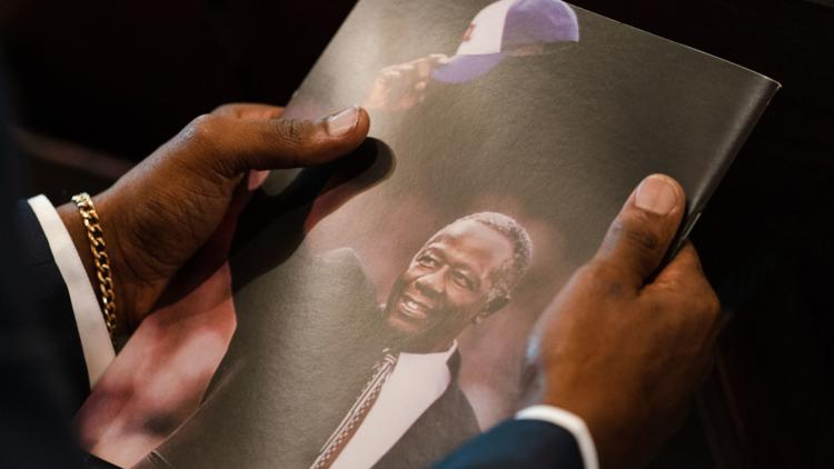 Read the opening remarks of Hank Aaron's funeral